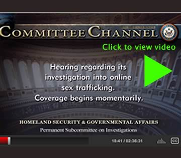 Homeland Security Hearing regarding Backpage